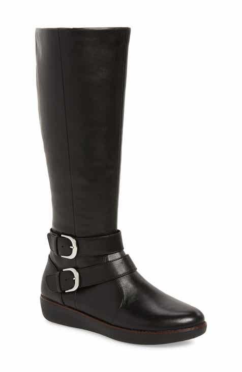 dbe79a247839b2 FitFlop Noemi Double Buckle Knee High Boot (Women)