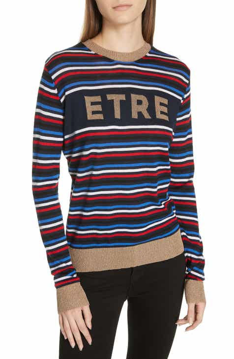 être cécile Stripe Knit Boyfriend Sweater 80521a60f4