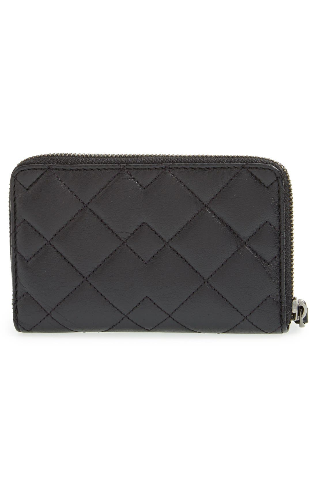 Alternate Image 4  - MARC BY MARC JACOBS 'Crosby - Wingman' Quilted Leather Phone Wristlet