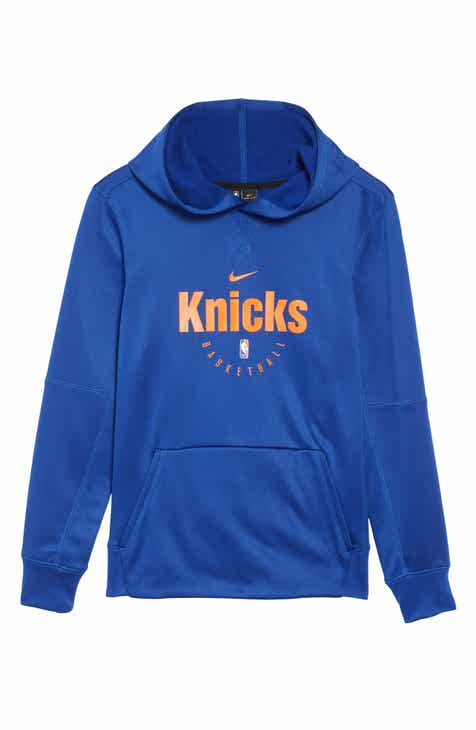 Nike New York Knicks Spotlight Dri-FIT Pullover Hoodie (Big Boys)