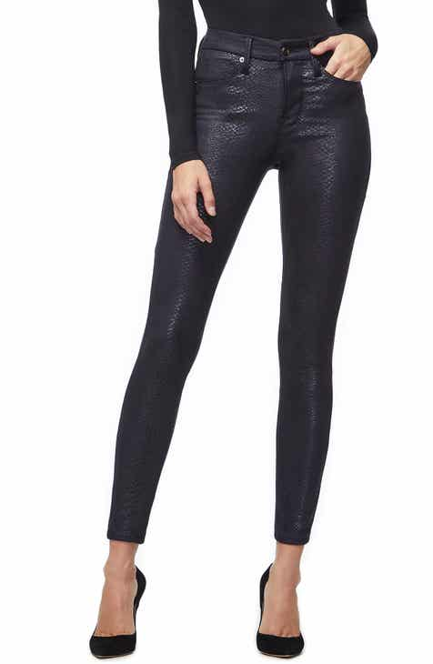 5fe04e84625 Good American Good Legs Metallic Snake Print Skinny Jeans (Black 041)  (Regular   Plus Size)