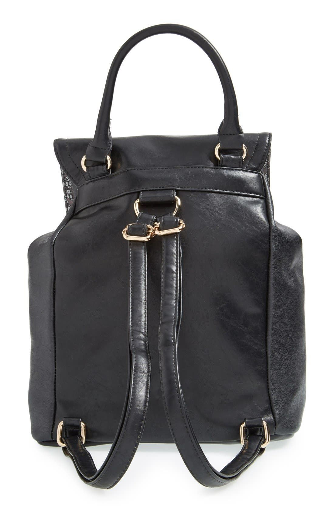 Alternate Image 4  - Cesca 'Leo' Faux Leather Backpack