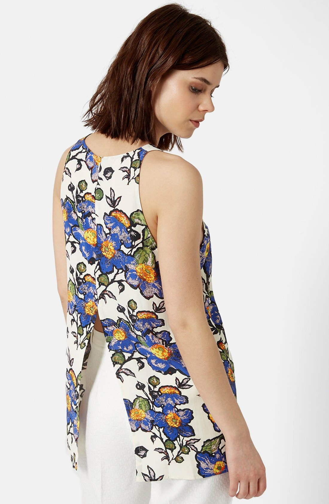 Alternate Image 2  - Topshop Graphic Floral Tank