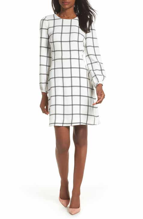 J Crew Windowpane Check Dress Nordstrom Exclusive