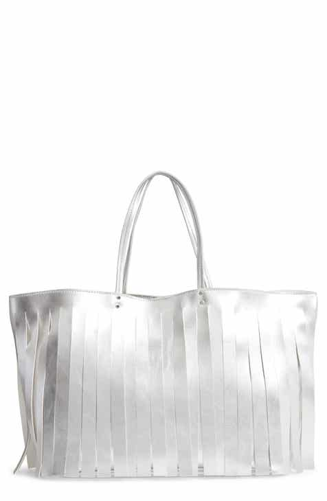 Steve Madden Corrie Fringe Faux Leather Tote