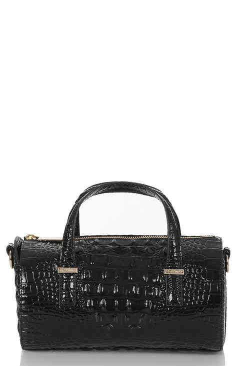 Brahmin Claire Croc Embossed Leather Top Handle Bag