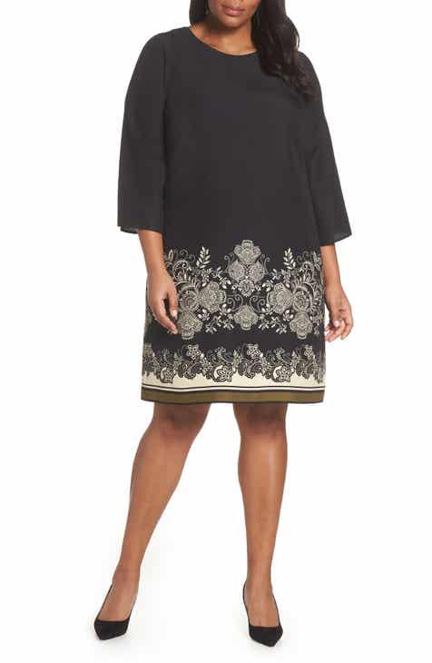 4c988f70179 Vince Camuto Ornate Paisley Shift Dress (Plus Size)