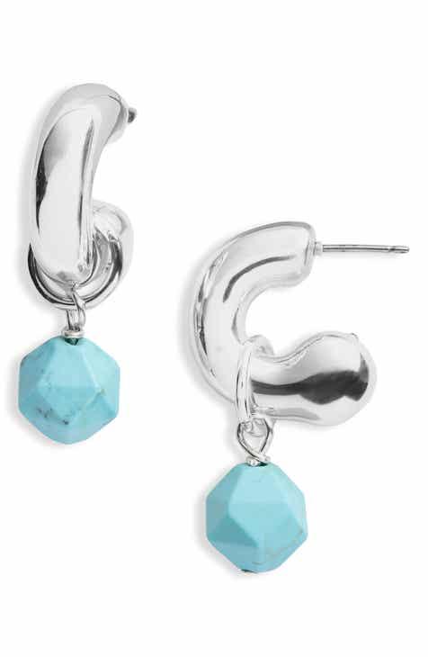 8a03eddb676 Simon Sebbag Convertible Hoop Earrings with Removable Drops