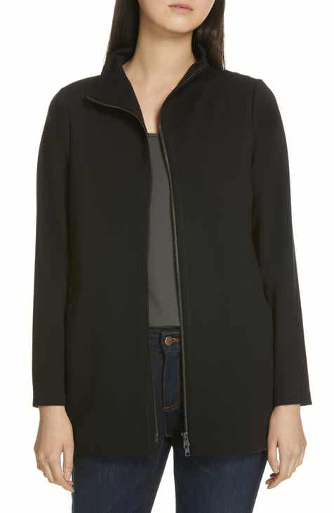 989fde244a5 Eileen Fisher Zip Front Jacket (Regular   Petite)