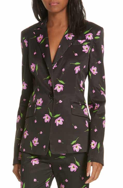 Milly Floral Stretch Blazer by MILLY