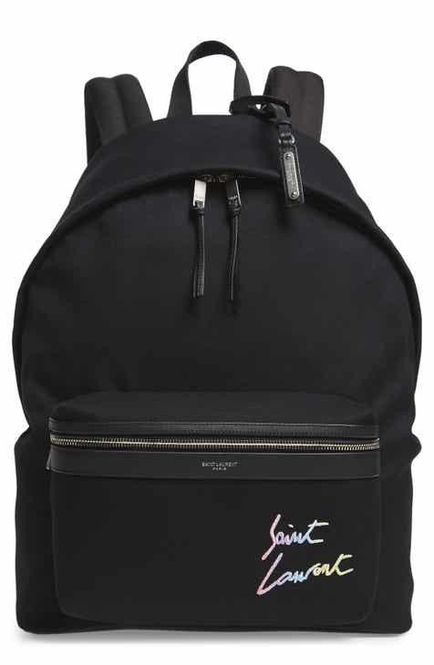0b231936d0 Saint Laurent City Canvas Backpack