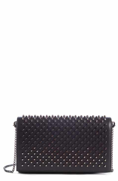 2acd7fc906d3 Christian Louboutin Paloma Spike Leather Clutch