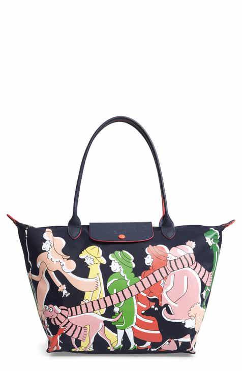 e3e626ec813d Longchamp x Clo é Floirat Le Pliage Illustration Shoulder Bag