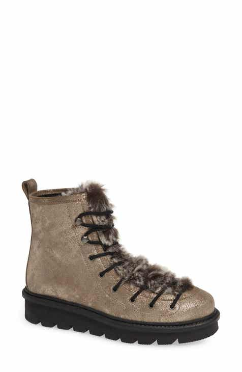 30b71648b6e07 Seychelles Resource Lace-Up Boot with Faux Fur Trim (Women)