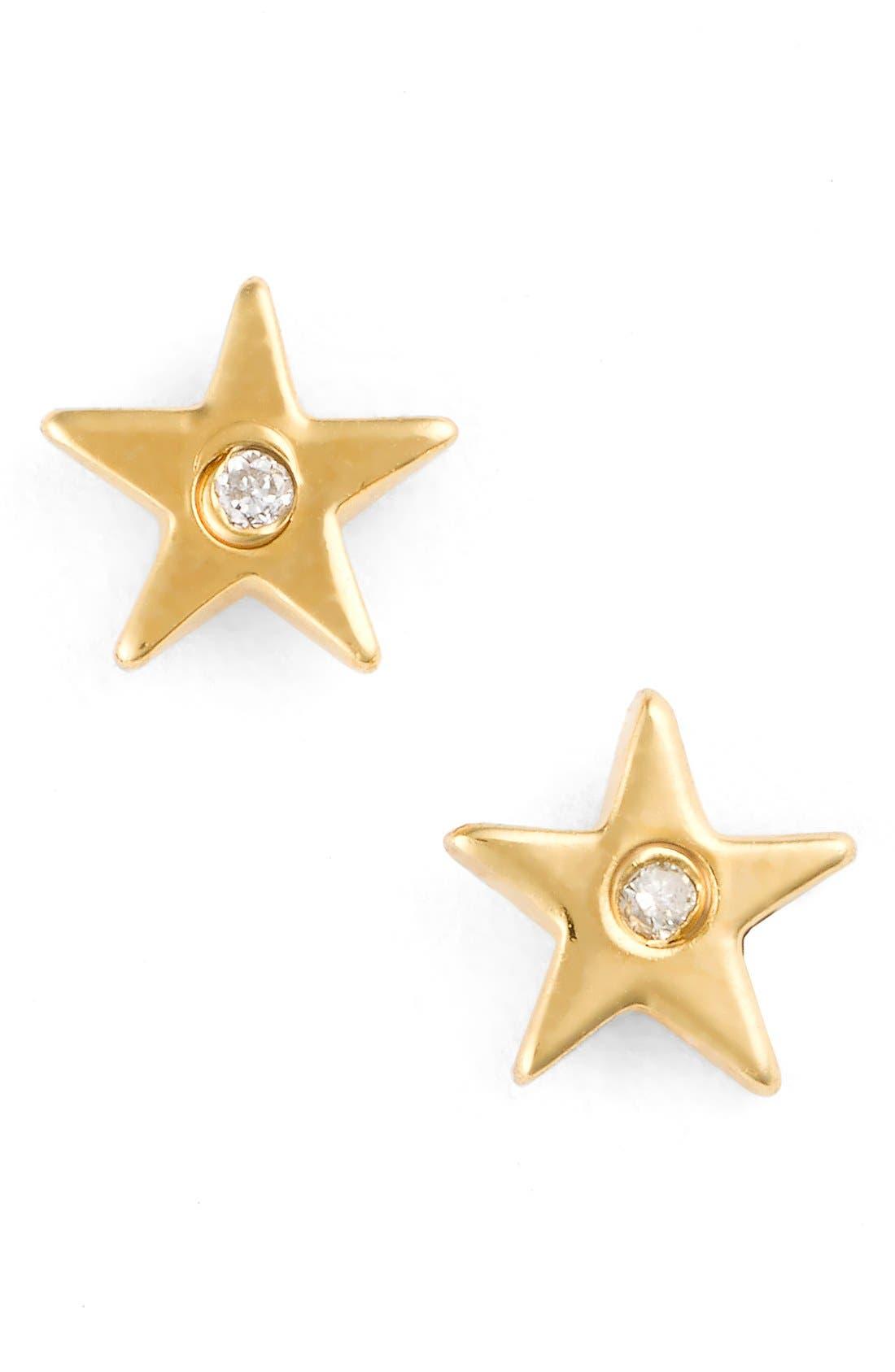 Star Stud Earrings,                         Main,                         color, Gold