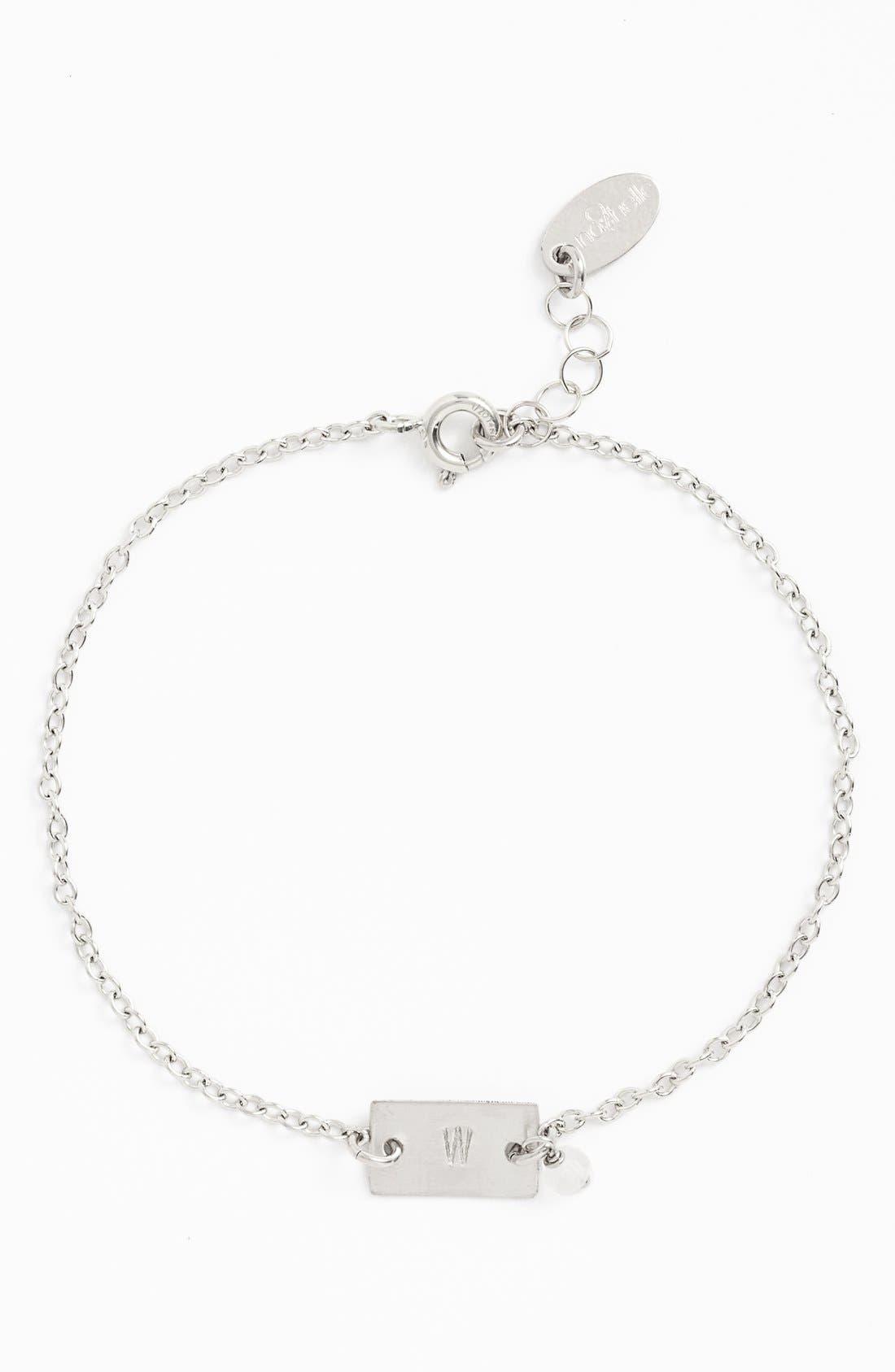 Nashelle Shaka Initial Sterling Silver Bar Bracelet