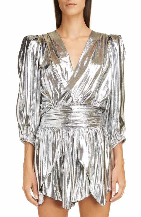 2bf80c14ab9aa6 Isabel Marant Metallic Silk Reversible Top