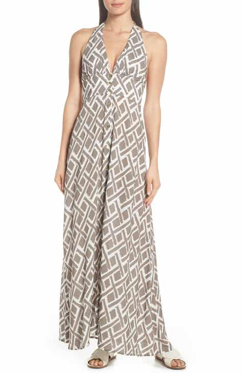 Heidi Klein Halter Neck Cover-Up Maxi Dress by HEIDI KLEIN