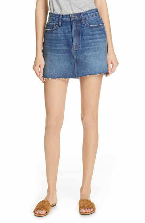 FRAME Le Mini Step Hem Denim Skirt by FRAME DENIM