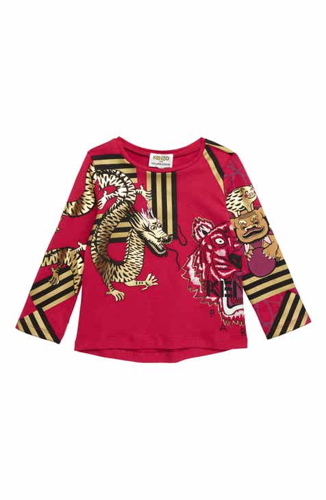 f6ee21bd KENZO Year of the Pig Graphic Tee (Toddler Girls, Little Girls & Big Girls)
