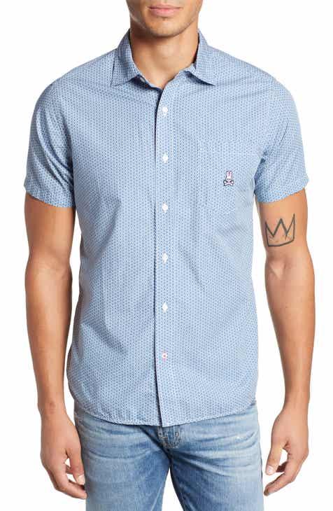 6d305fe08d Psycho Bunny Tiny Print Camp Shirt