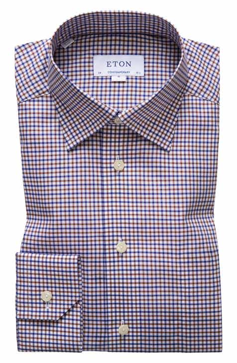 a8514f6b724b Eton Contemporary Fit Check Dress Shirt