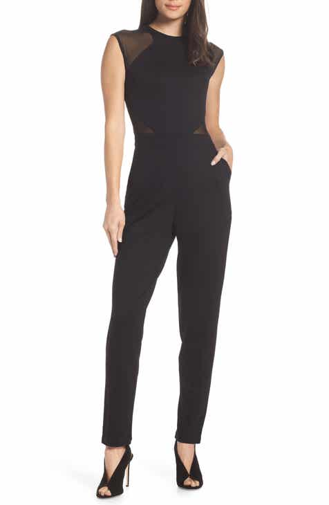 Bobeau Sleeveless Wide Leg Jumpsuit (Plus Size) by BOBEAU