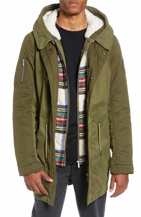 ed4a7273203a9 Scotch   Soda Seasonal Parka with Removable Lining and Detachable Faux  Shearling Hood