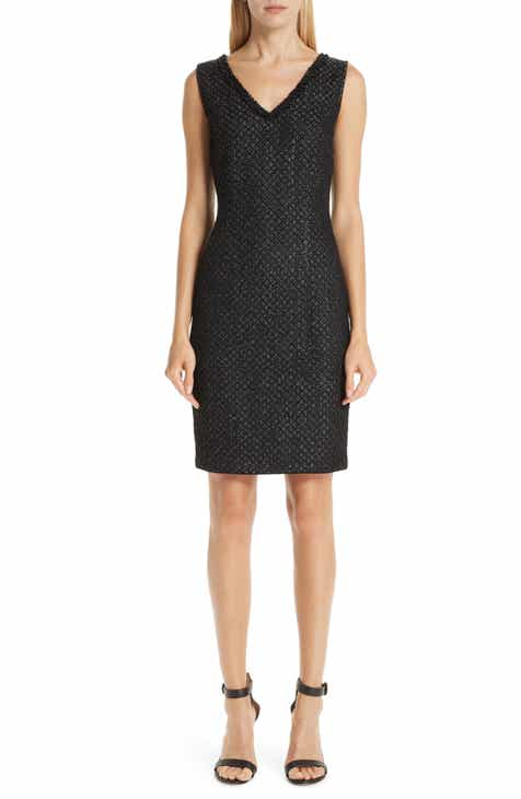 St. John Collection Shimmer Inlay Brocade Knit Dress by ST. JOHN COLLECTION