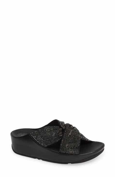 869d90ff8094 FitFlop Twiss Crystal Embellished Slide Sandal (Women)
