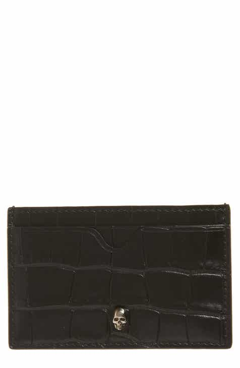 Alexander McQueen Embossed Leather Card Case 0f14e49a09