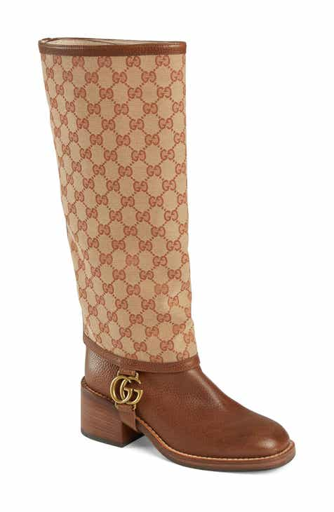 fed4e0e3050 Gucci Lola Monogram Gaiter Boot (Women)