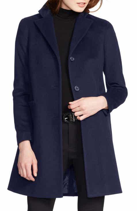 3c3da481cedd Lauren Ralph Lauren Wool Blend Reefer Coat (Regular   Petite)