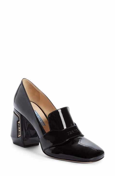 Prada Block Heel Loafer Pump (Women) 0186cb69a