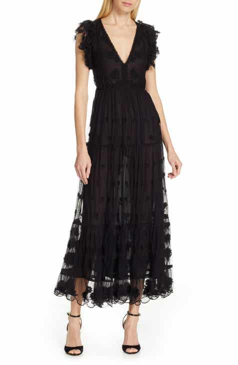 22d423fb89 Ulla Johnson Fifi Embroidered Tulle Maxi Dress