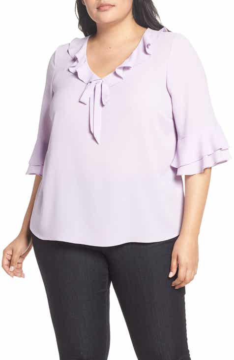 f9c31ccb69c88 CeCe Ruffled Bow Top (Plus Size)