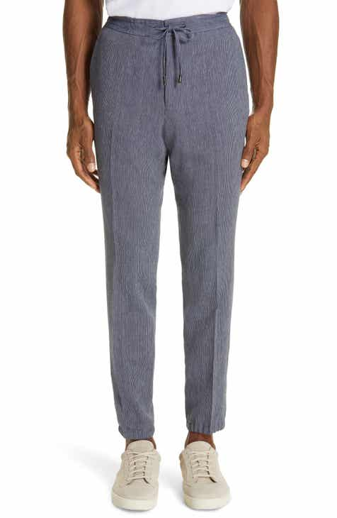 70effda01738a3 Z Zegna Slim Fit Seersucker Linen & Cotton Jogger Trousers