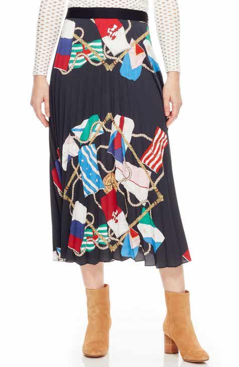 63a8488a9f488b sandro Gabriella Pleated Skirt