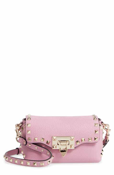 2902100834 VALENTINO GARAVANI Rockstud Mini Calfskin Leather Crossbody