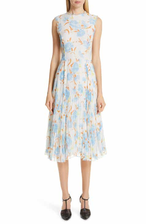 Jason Wu Collection Floral Print Chiffon Midi Dress by JASON WU