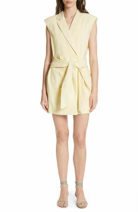 a838370f93 Tibi Tie Waist Blazer Dress