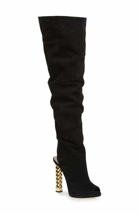 e4b07021d07a Giuseppe Zanotti x Rita Ora Chain Heel Over the Knee Boot (Women)