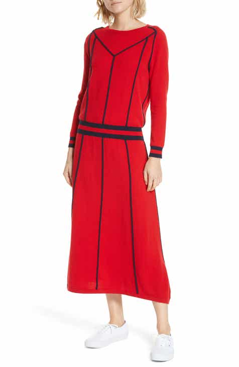 CHINTI & PARKER Wool & Cashmere Ribbon Midi Dress by CHINTI AND PARKER