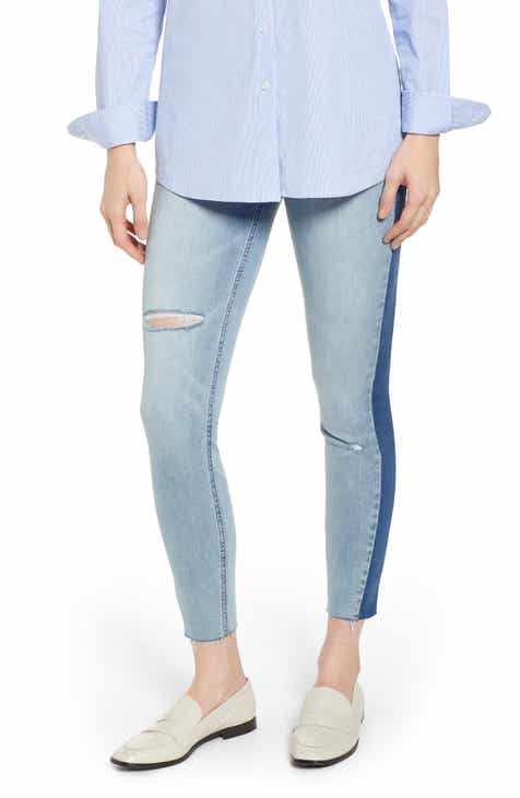 16be1e46b30d64 SPANX® Washed Side Stripe Denim Leggings