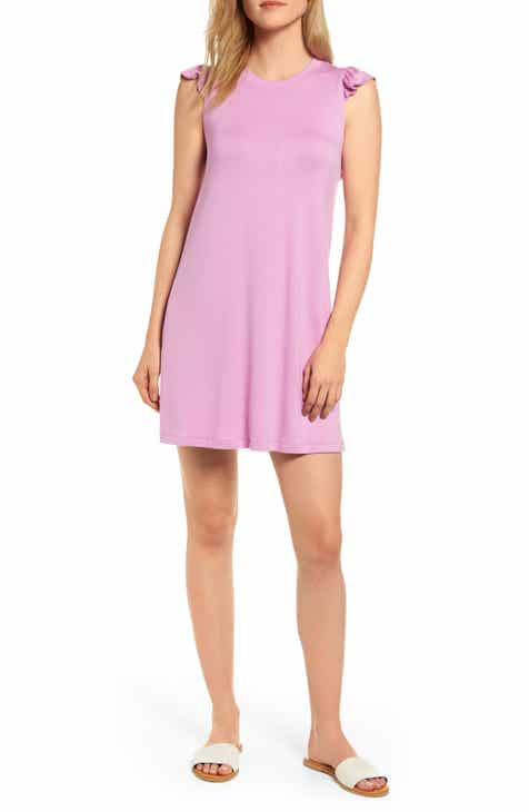 dd6cbe9b9f233 Laguna Soft Jersey Ruffle Back T-Shirt Dress (Regular & Petite) (Nordstrom  Exclusive)