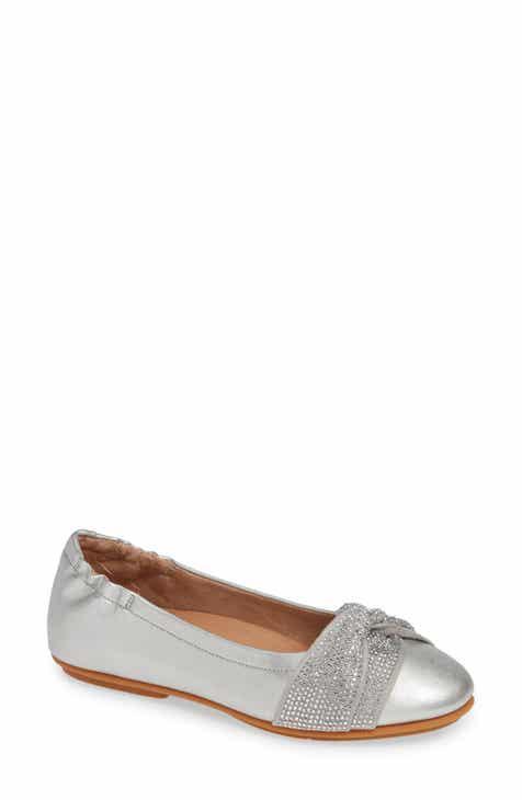 f50a29a31c1 FitFlop Twiss Crystal Embellished Flat (Women)