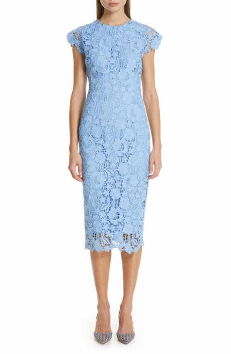 386e88730d Lela Rose Fitted Floral Guipure Lace Dress