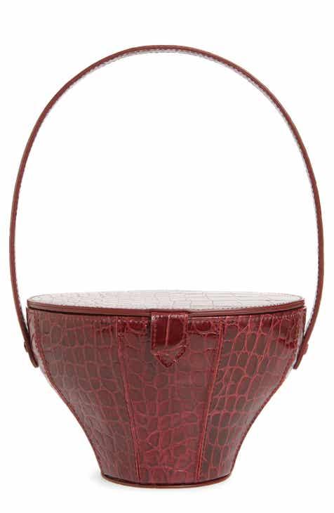 cb54e570616c STAUD Alice Croc Embossed Leather Bucket Bag