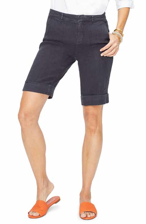 6050b5c6b NYDJ Stretch Linen Blend Bermuda Shorts