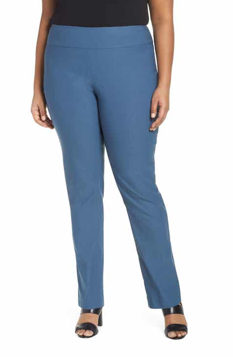 53ecad48688cb NIC+ZOE Wonderstretch Straight Leg Pants (Plus Size)